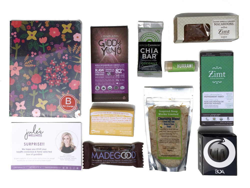 Jule's Wellness Lifestyle Subscription Box Contents