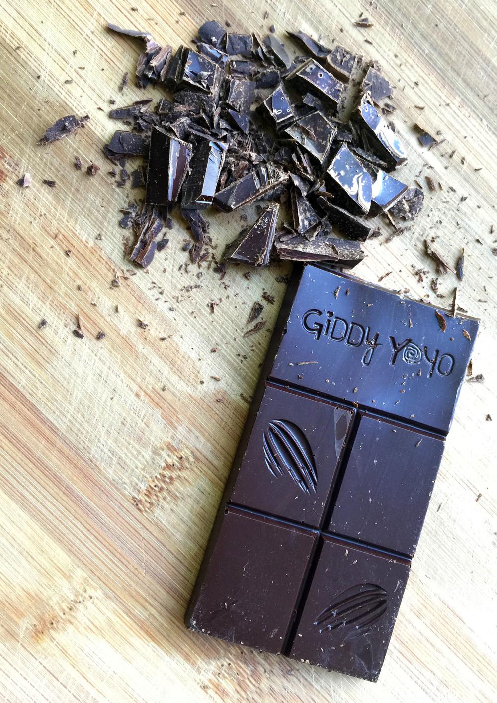 Giddy YoYo Raw Heirloom Organic Vanilla Bean and Salt Chocolate Bar
