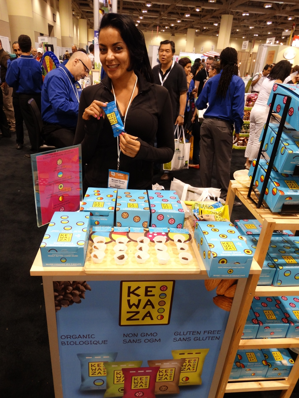 Mariam Ekram, founder of  Kewaza  at CHFA East 2015 Trade Show. Photo by  LoveWildLiveFree.