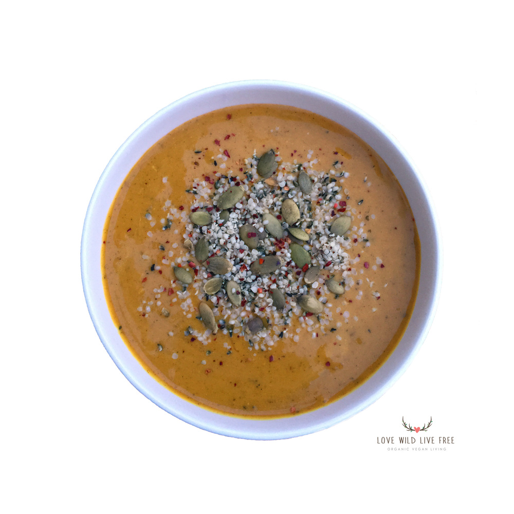 Top this Coconut Curry Butternut Squash soup hemp for a nutty source ...