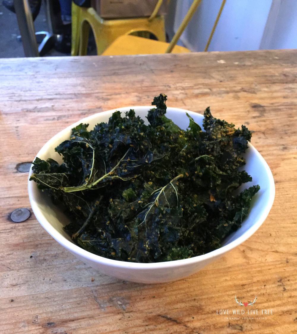 The Butcher's Daughter Dehydrated Kale Chips.  Photo by Love Wild Live Free.