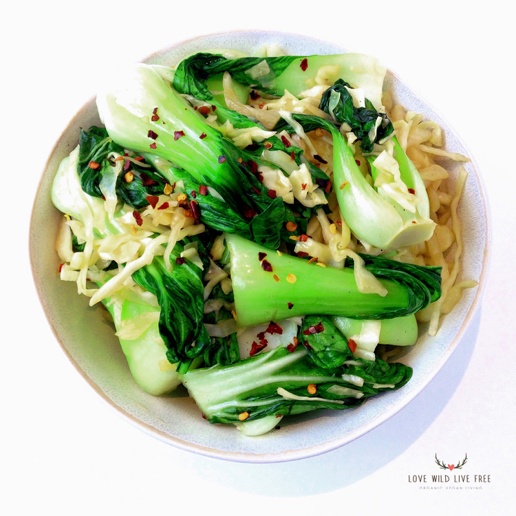 Looking for a vibrant, quick + nutritious dinner at the end of a long day? My Bok Choy, Cabbage & Garlic Stir-Fry is a delicious dish that's ready in under 15 minutes!