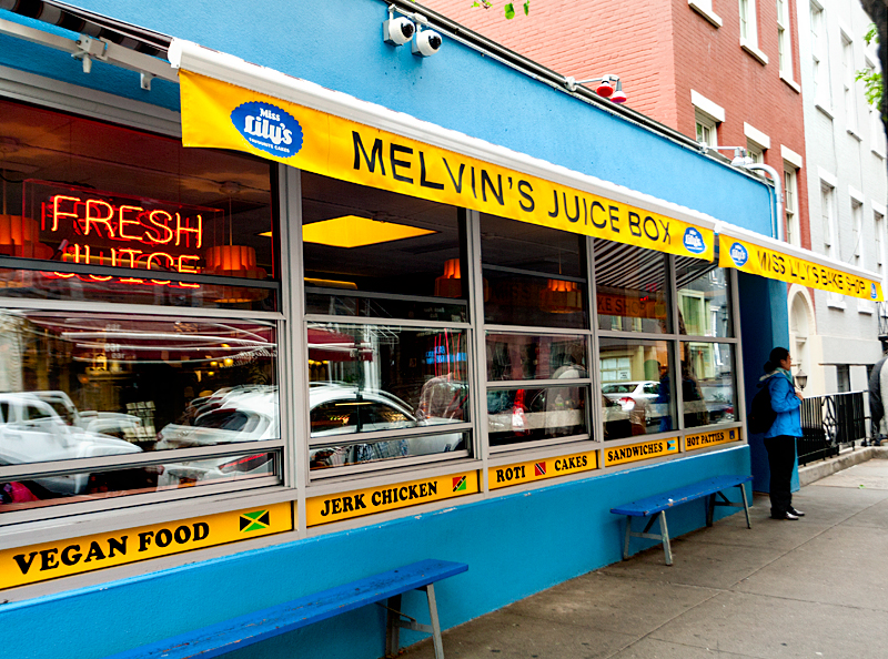 Melvin's Juice Box and Miss Lily's Bakeshop exterior. Photo source: www.grandlifehotels.com/listing/melvins-juice-box/.