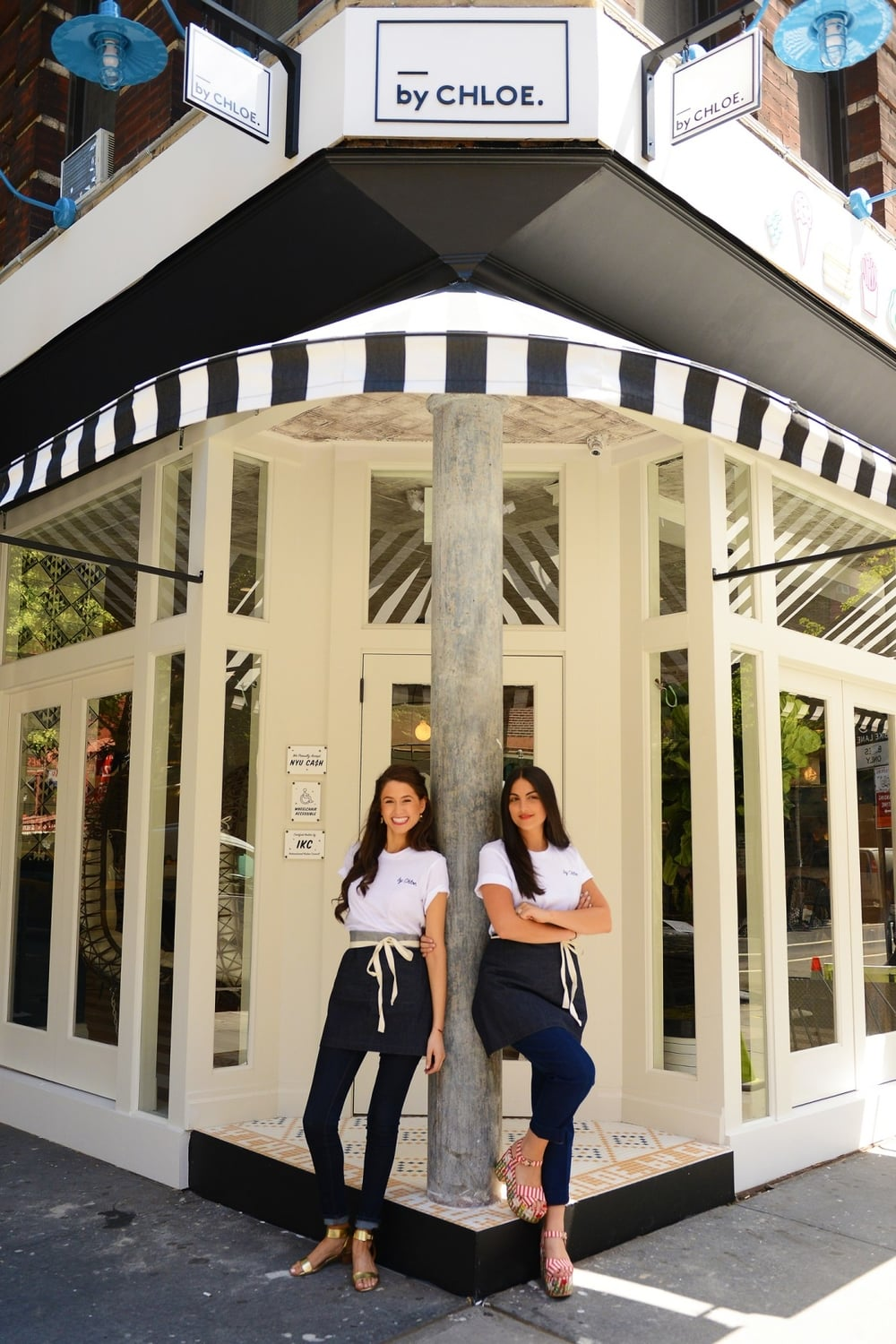 by CHLOE.,  a vegan-chic casual dining spot in the West Village, is the collaborative result of two young female entrepreneurs, vegan chef and best-selling cookbook author  Chloe Coscarelli  and Samantha Wasser of  ESquared Hospitality  .   Photo source: Forbes.com.*
