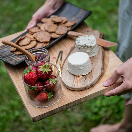 Toronto-based Wood and Water Foods is always serving up the best in artisan vegan cheese. Photo by Wood and Water Foods.
