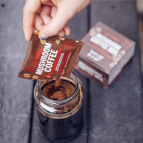 Four Sigmatic  Mushroom Coffee with Cordyceps - stimulation without jitters.  Image courtesy of Four Sigmatic.