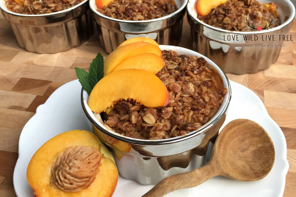 """Now you can get the ingredients for this Seasonal Fruit Crisp from Love Wild Live Free delivered right to your door with Let's Nom!And, as a thank you to my readers for all of your support, I am offering a special promo code """"LOVENOMS""""for $5 off your first order!"""