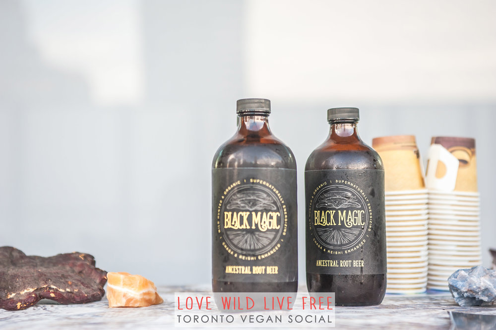 Black Magic Alchemy's Artisanal Root Beer was a huge hit at the Love Wild Live Free Vegan Social. Photo by: LOF Photography.