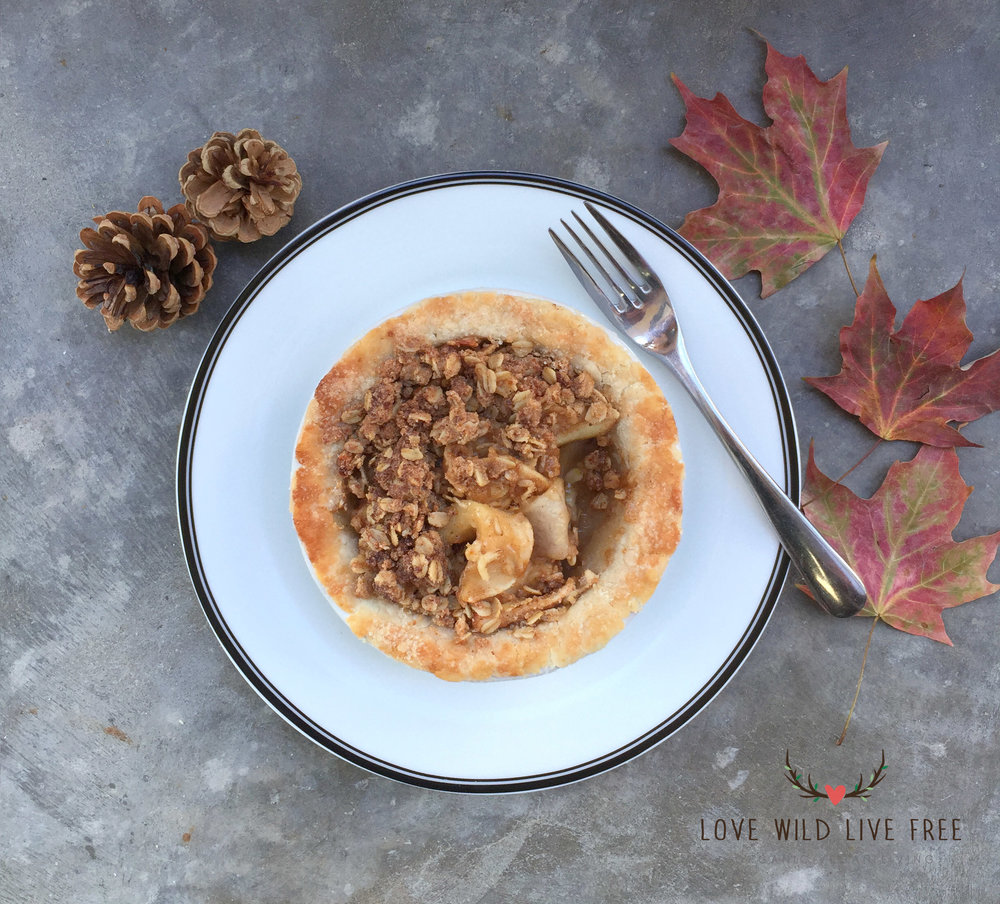 The crust for this Apple Crumble Pie was likely the best pie crust I've ever made in my kitchen, it was so flaky and buttery too!  Photo by: Love Wild Live Free.