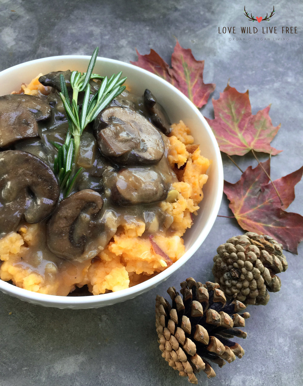 Garlicky Mashed Potatoes + Mushroom Gravy