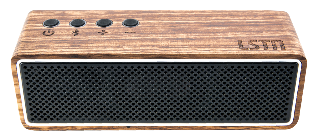 Inspired by vintage stereo design, the Apollo by LSTN has real wood housing and a custom grille. The stereo imaging is provided by twin 45mm drivers and huge bass powered by dual passive radiators. It even has built-in speakerphone capabilities. What I love about LSTN is that it is a for-purpose company that produces premium audio products and uses proceeds from their sales to change lives through the power of music. For every purchase, they help provide hearing aids to a person in need through their charity partner, Starkey Hearing Foundation.