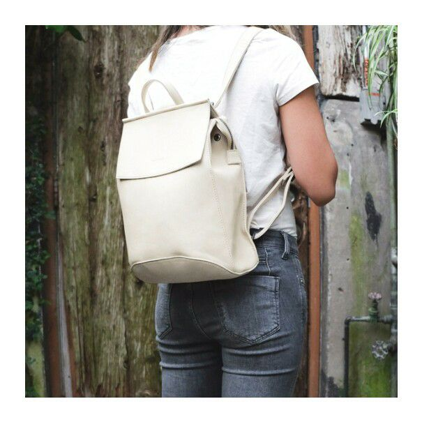 The Kim Convertible Backpack , made with vegan leather, is one of Pixie Mood's most popular bags. It returns in a beautiful Cream colour just in time for Spring. This bag converts from a backpack to a cross body bag!  Photograph by Pixie Mood.