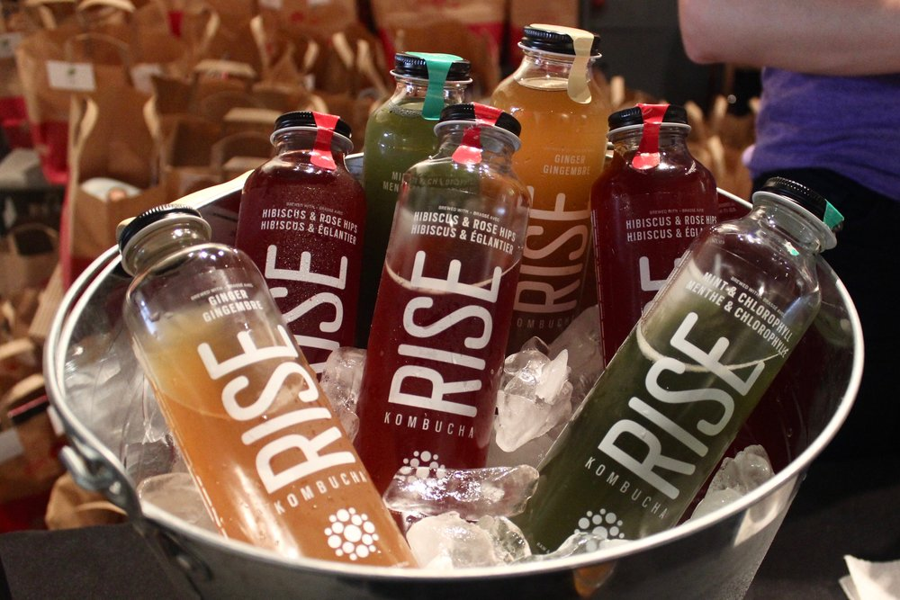 Ice cold  RISE Kombucha !   Photo by  Kristy LaPointe  + Plant Based Kristy on  Instagram .