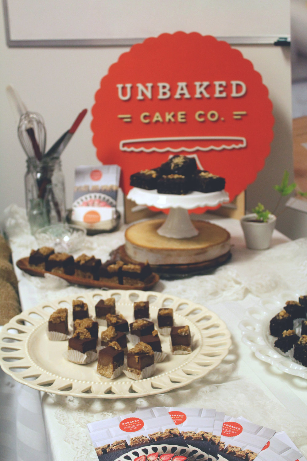 Goodies c/o  Unbaked Cake Co. !   Photo by  Two Market Girls .