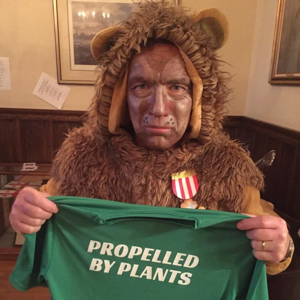 SCARIEST COSTUME   Ian MacNeily did a fantastic job as the Courageous Lion! Thank you to   Plant Trainers   for donating their Propelled by Plants t-shirt!  Photo by: @PlantTrainers.