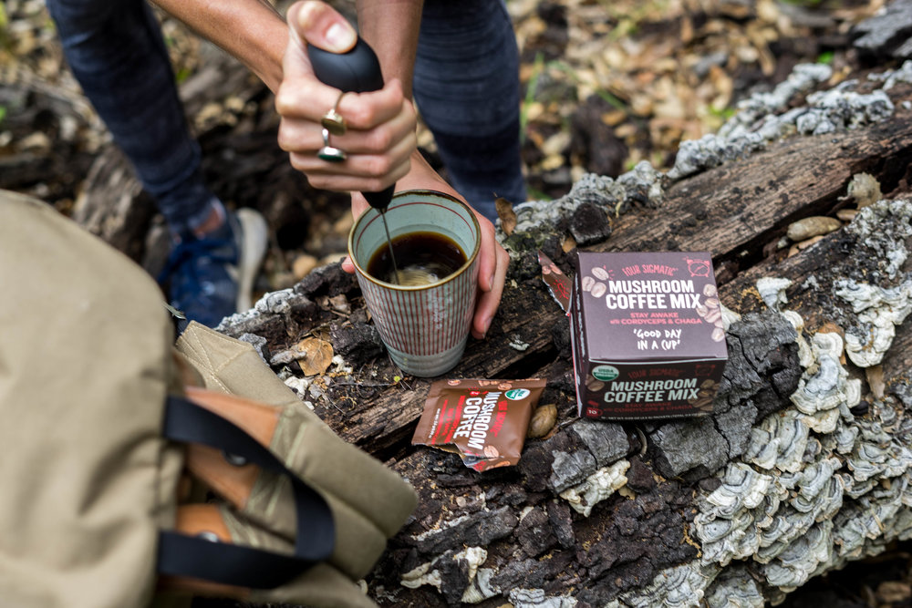Try Four Sigmatic's Mushroom Coffee with Cordyceps for coffee without the jitters!