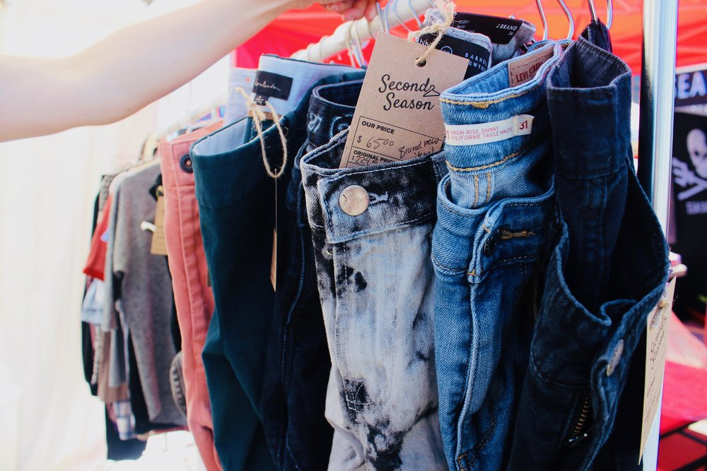Vendors with sustainable, eco-conscious lifestyle products also joined the event, including  Second Season , with pre-loved brand name clothing.  Photo by    Kristy LaPointe    + Plant Based Kristy on    Instagram   .