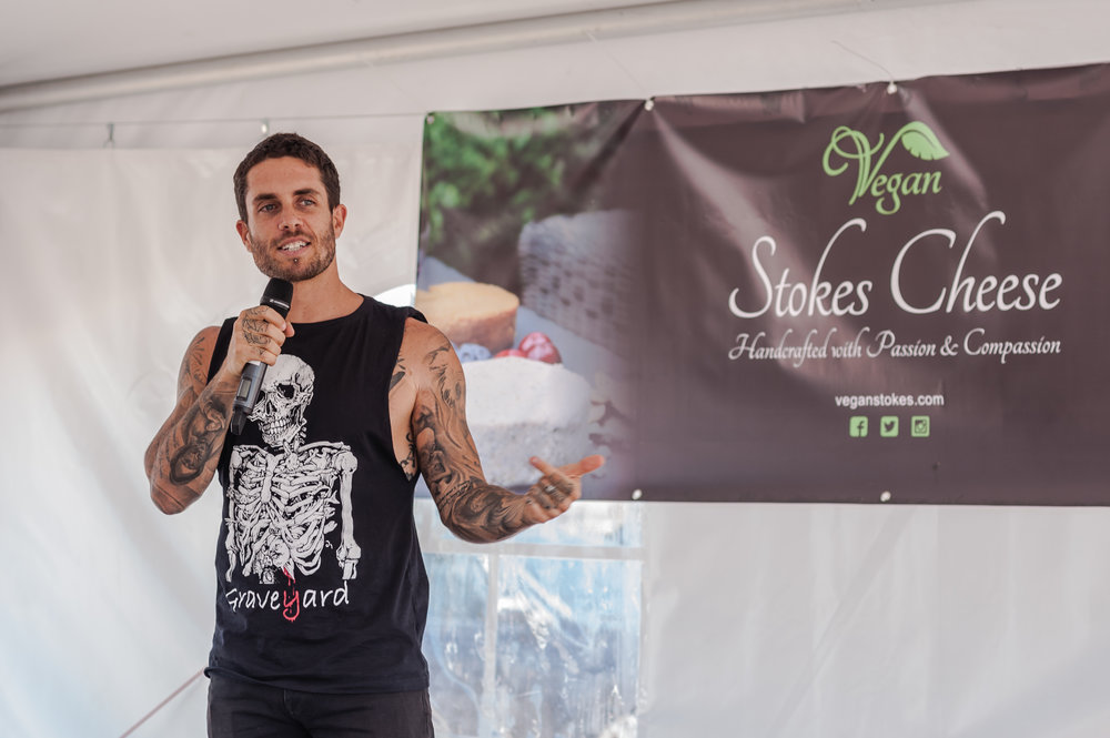 James Aspey , an Australian Animal Rights Activist who is known for taking a 1-year vow of silence to raise awareness about animal cruelty joined The Sustainable Block Party + Pop-Up Market as keynote speaker.  Photo by:    LOF Photography   .