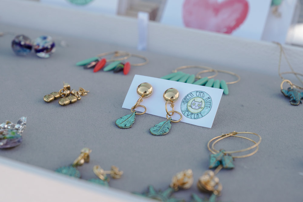 Handmade jewelry by  Green Eyed Kitty , made with beads from around the world.  Photo by:    Two Market Girls.