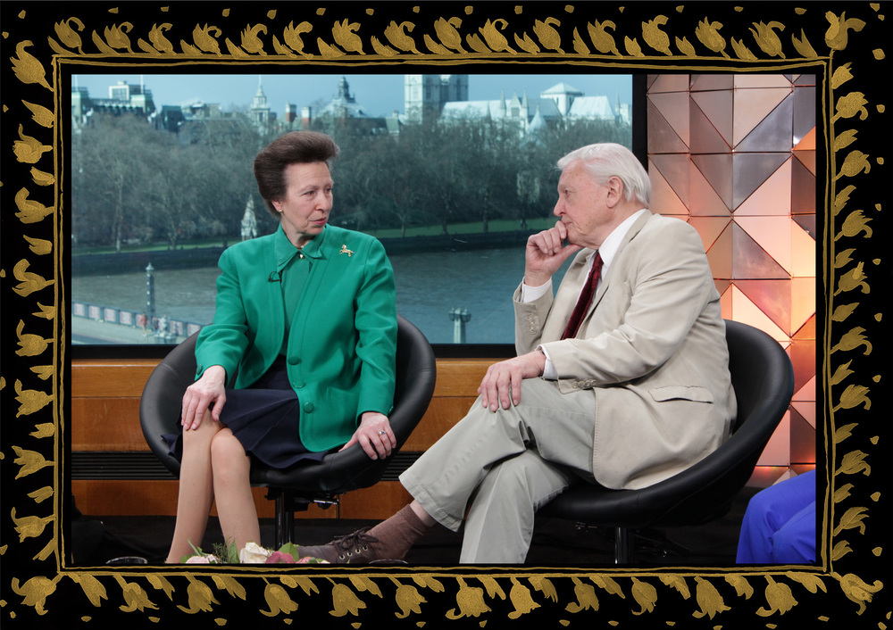 Sera of London set design for Zeinab Badawi BBC London, Princess Anne, David Attenborough