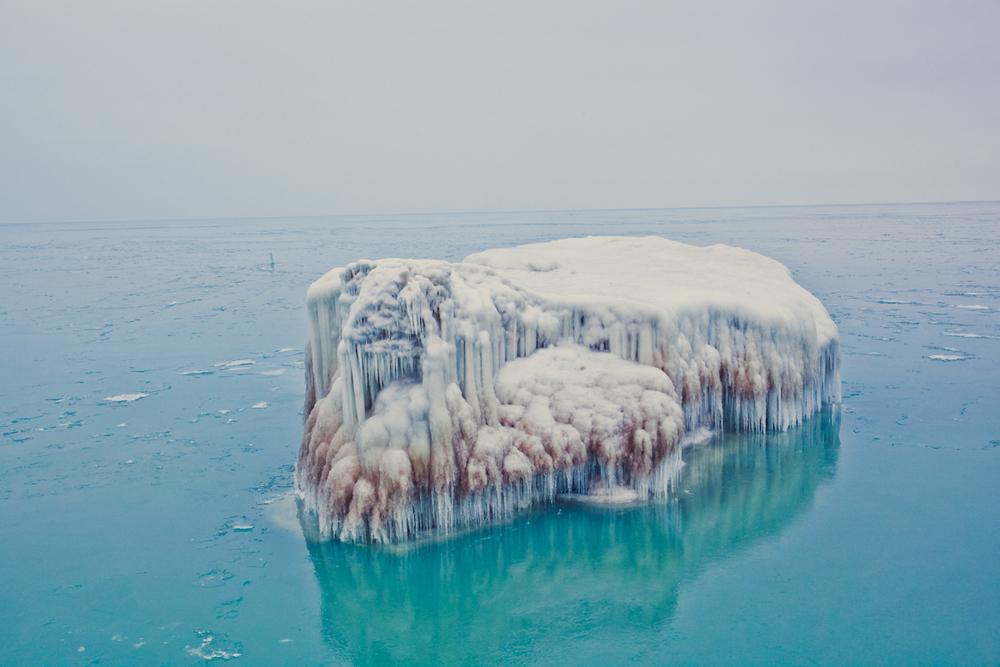 Like an iceberg in the North Atlantic.
