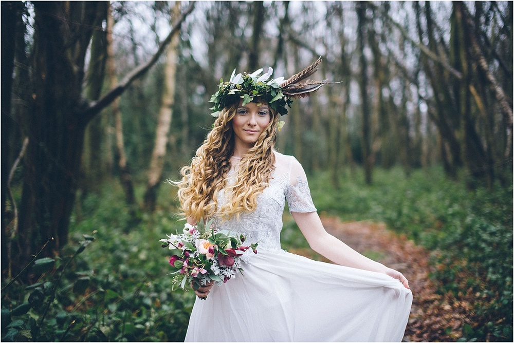 From my styled shoot at Kentfield Country Estate. In the woods surrounding the meadow. Hair and make up Sherrie Warwick http://www.sherrie-warwick.co.uk/  flowers by Lucy Day at Wild Bloom http://www.wildbloom.co.uk/weddings