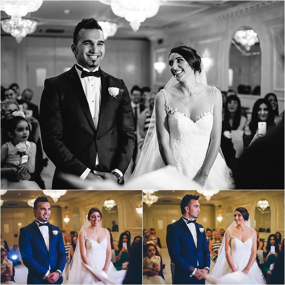 wedding ceremony at the regency banqueting suite in london