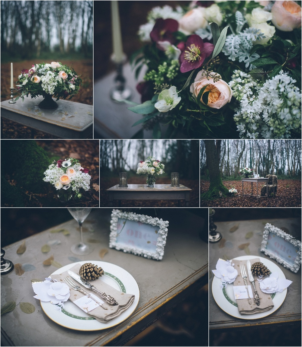 Winter wedding styling and flowers