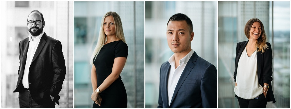 Barclays HQ business portraits.
