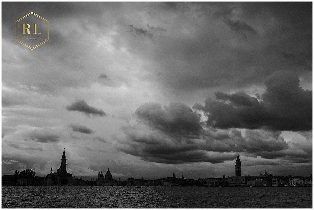 A storm over venice skyline