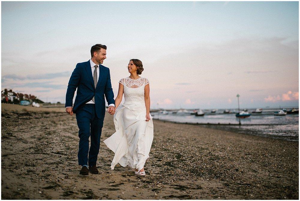 Roslin beach hotel wedding in Essex