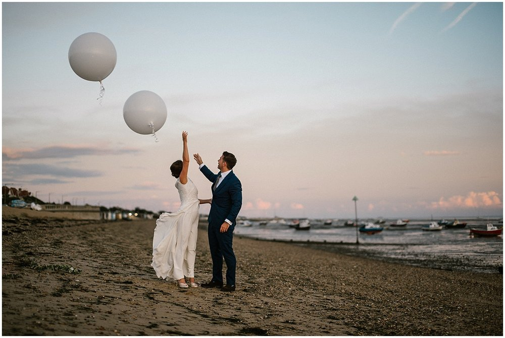 wedding on the beach in southend