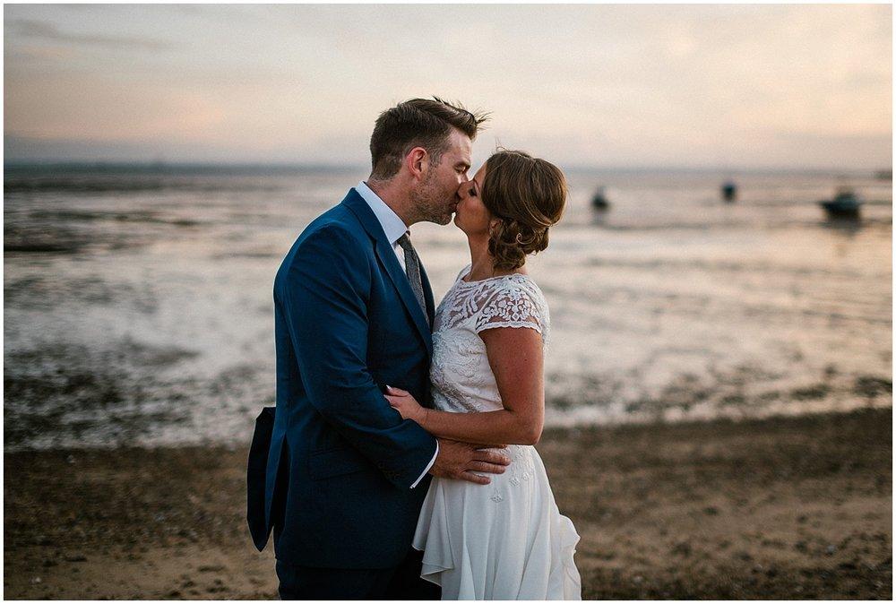 beach wedding in essex