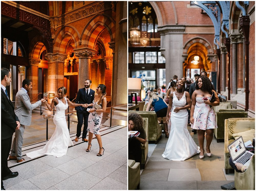 wedding at st pancras renaissance hotel