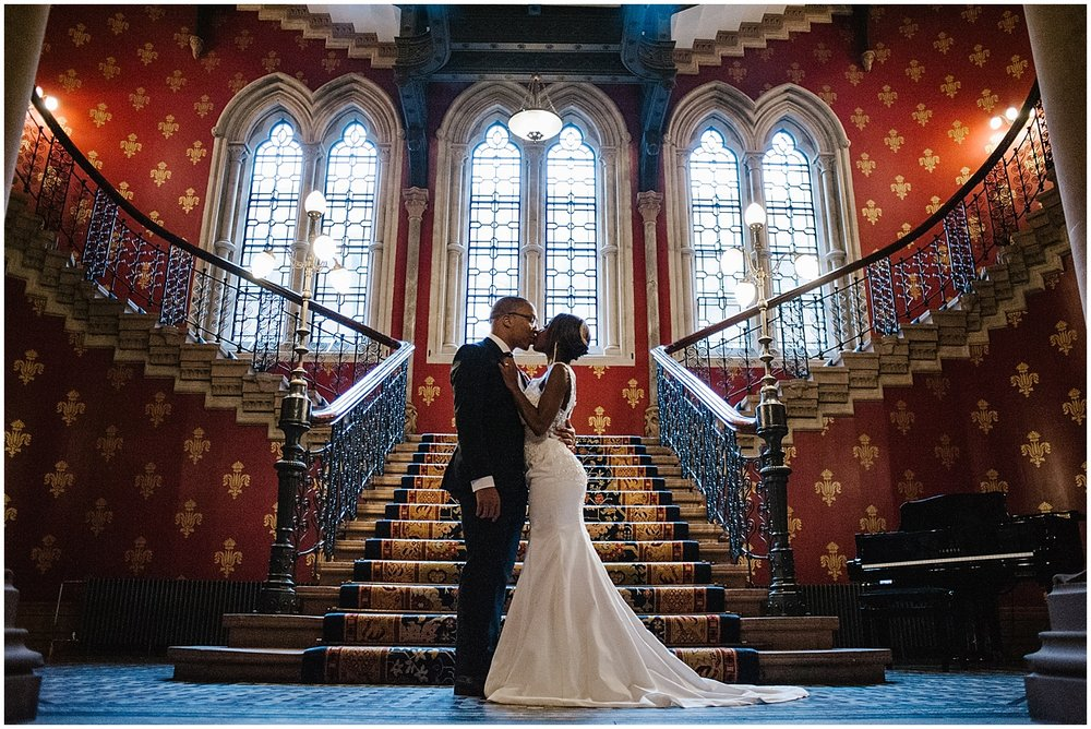 wedding photos at st pancras renaissance hotel london
