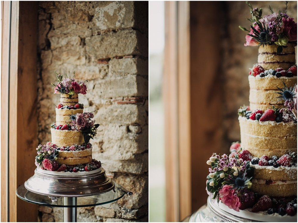 Naked wedding cake ideas