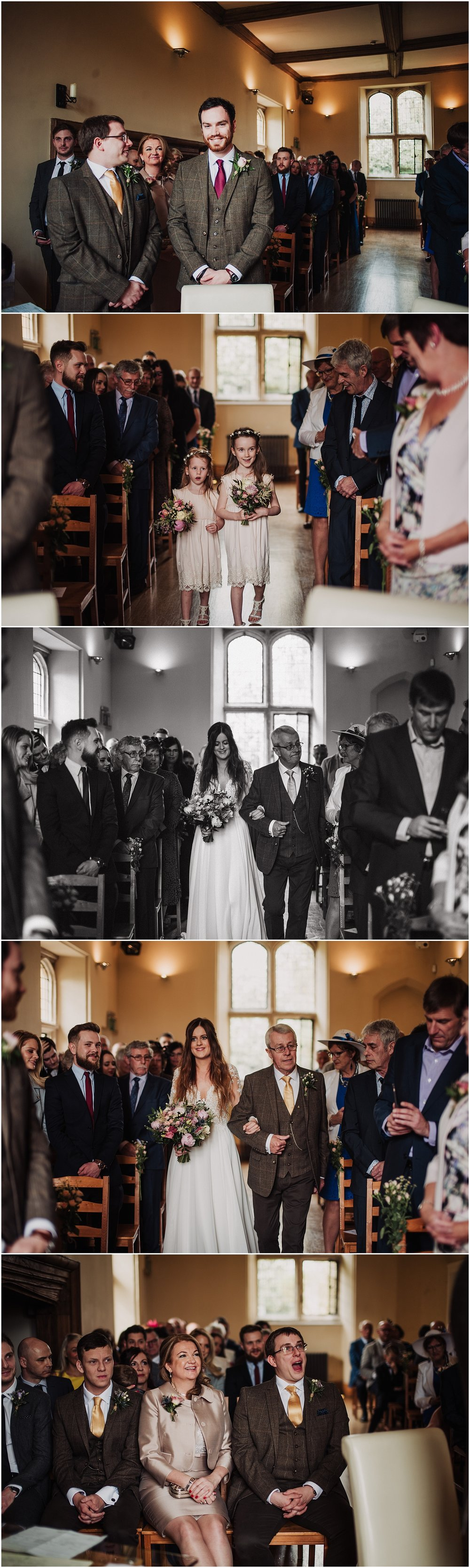 wedding ceremony at notley abbey