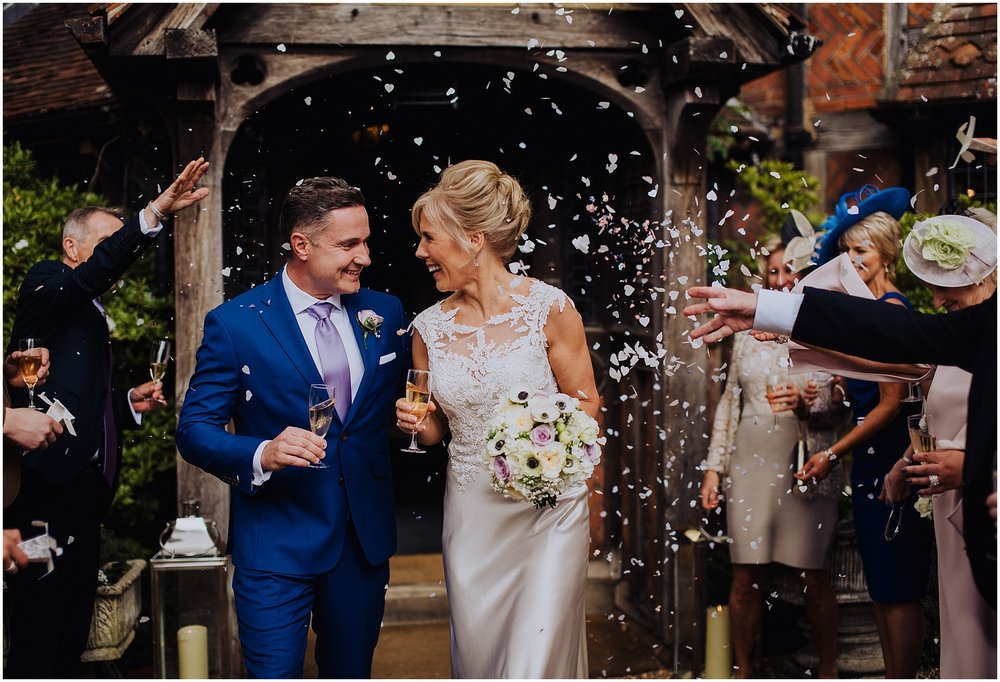 wedding at Langshott Manor in Surrey
