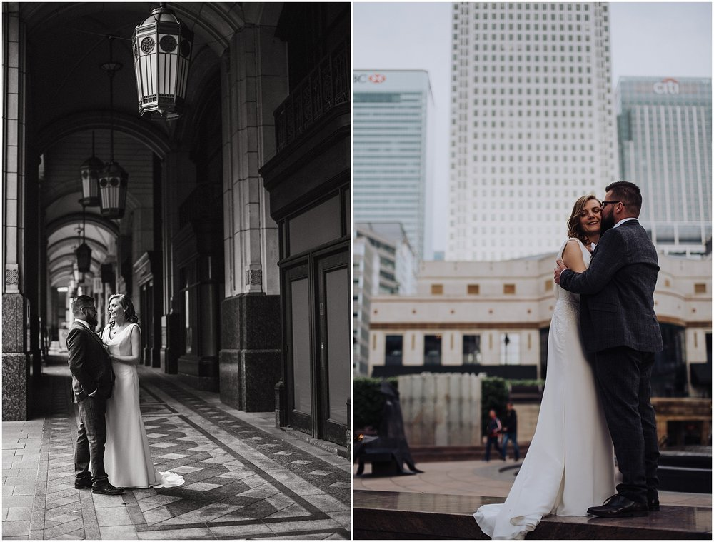 wedding photos at canary wharf