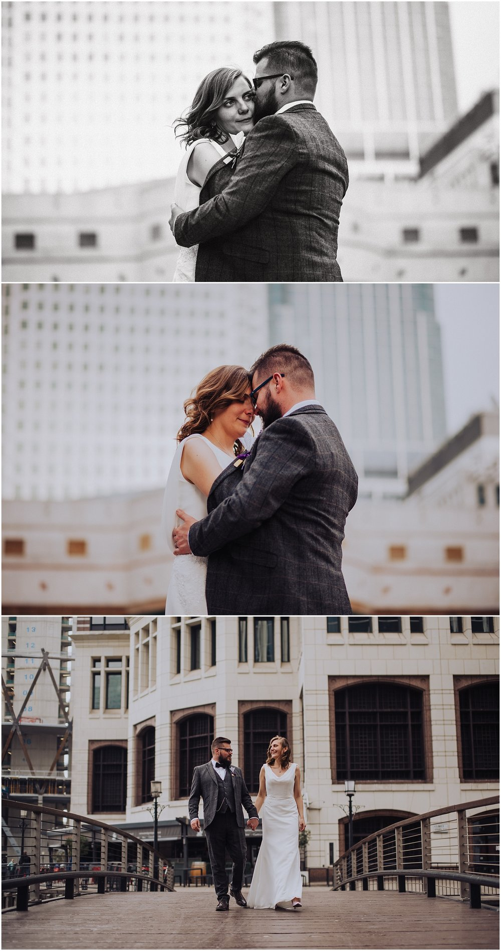wedding photographer at canary wharf in london