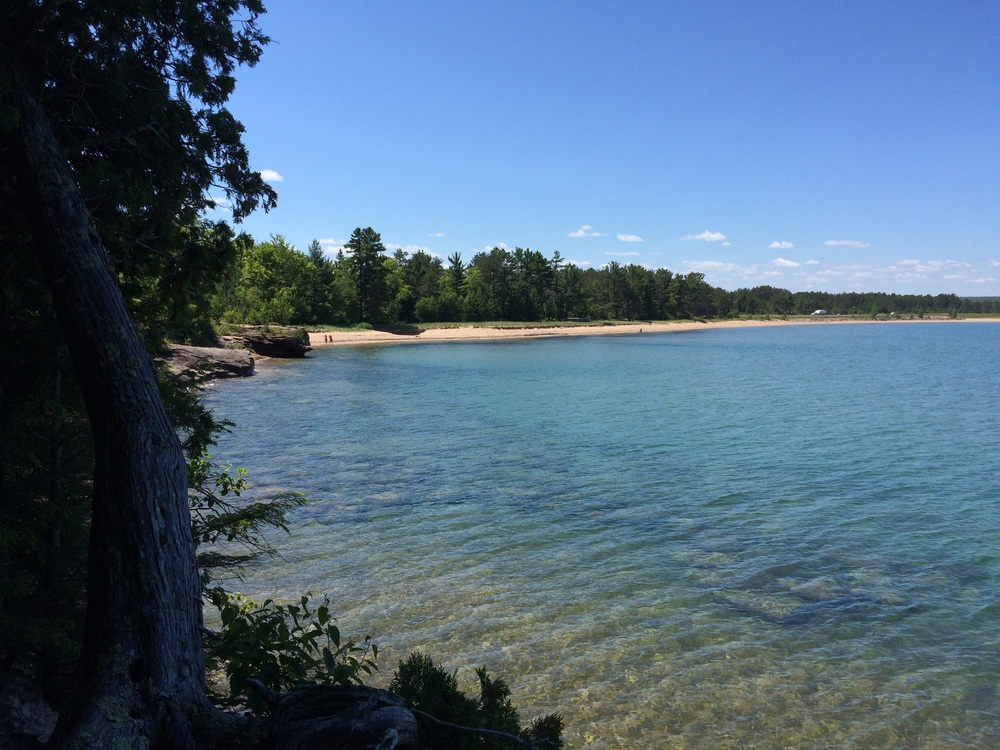 The beautiful Lake Superior in the Upper Peninsula of Michigan. As clear as Carribean water!