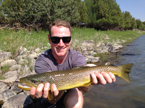 Kevan Fly Fishing in Montana