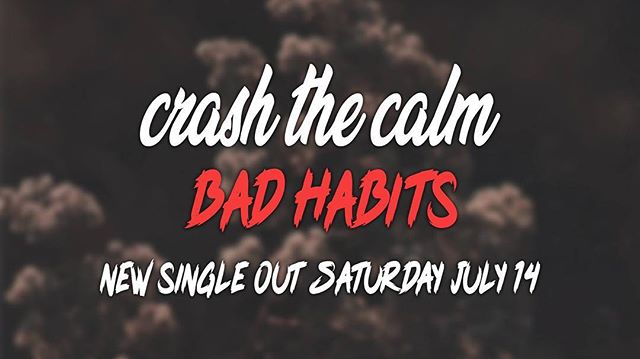 We've been a bit quiet lately getting things in order, but we won't be for long 👌🏻 new BANGER coming from @crashthecalmband this weekend as we gear up for the release of their split with @staleworth_ 🤟🏻🤟🏻🤟🏻