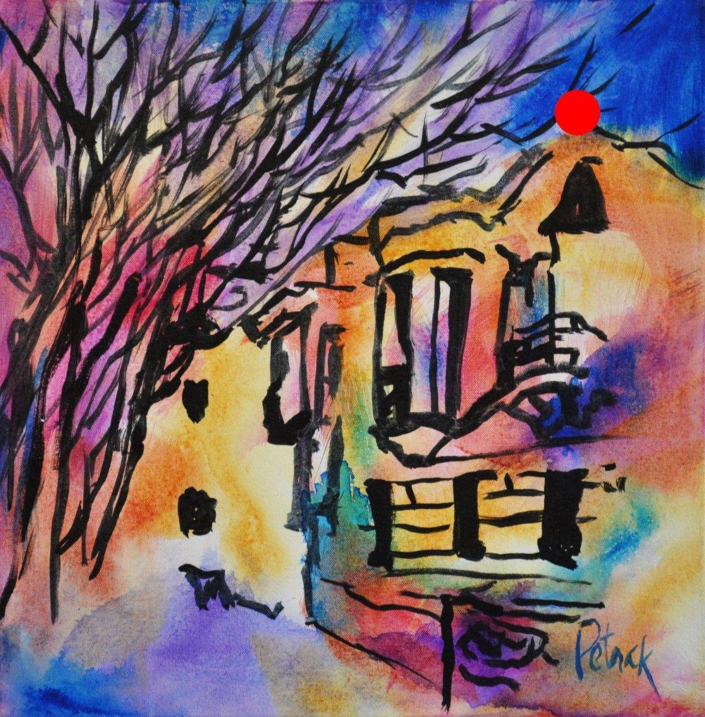 Athens Street Sketch