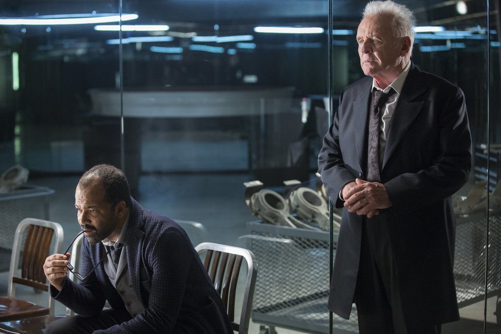 Jeffrey Wrights' Bernard/Arnold and Anthony Hopkins' Ford, the founding fathers of Westworld