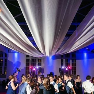 Loving this dramatic shot of the dance floor treatment we did for Emily & Ryan's wedding at the Palladium! (📷 by @lphotographie) #weddingwednesday #dancefloor #stlouiswedding