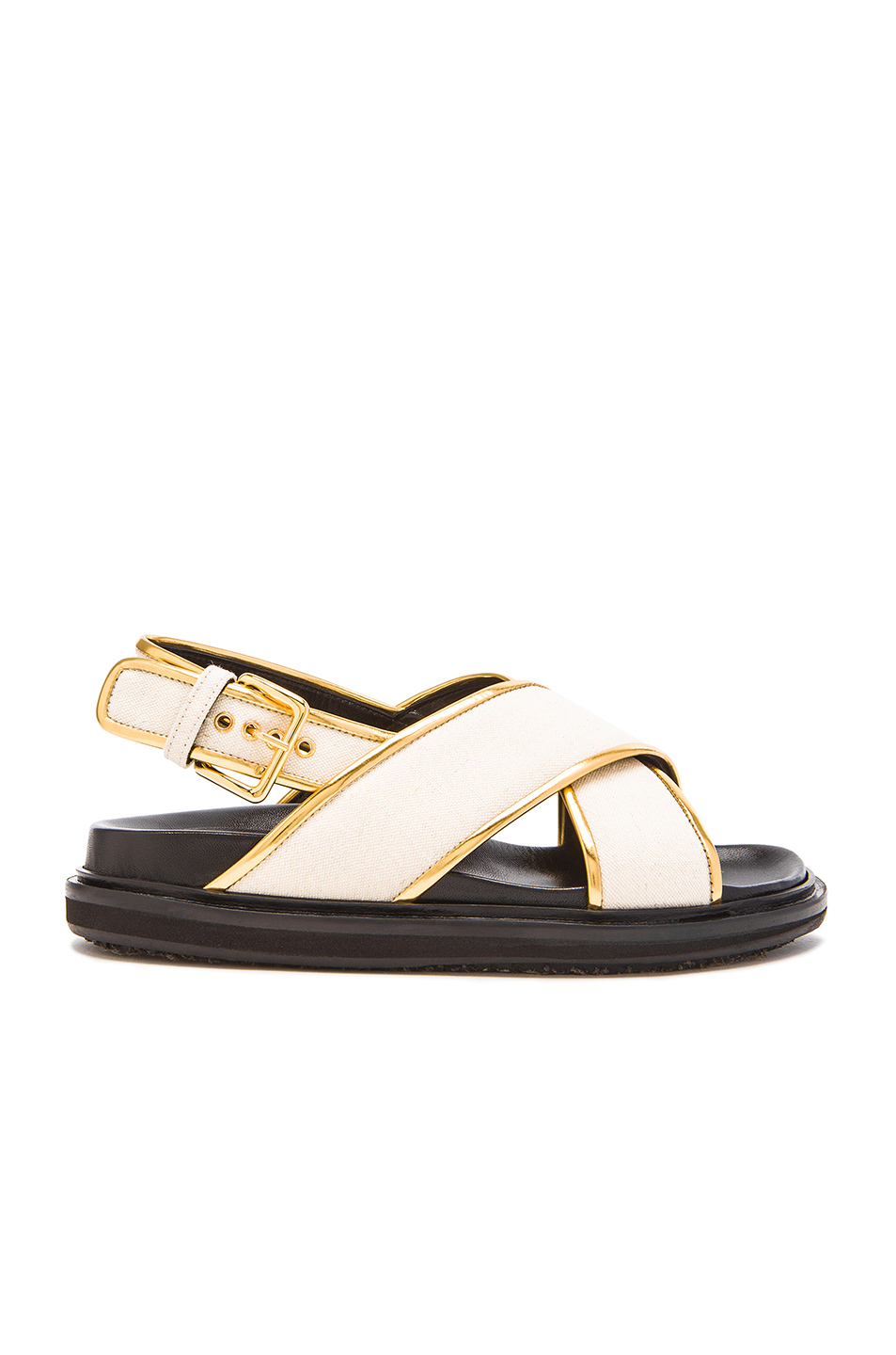 MARNI - CHEVRON CANVAS SANDALS