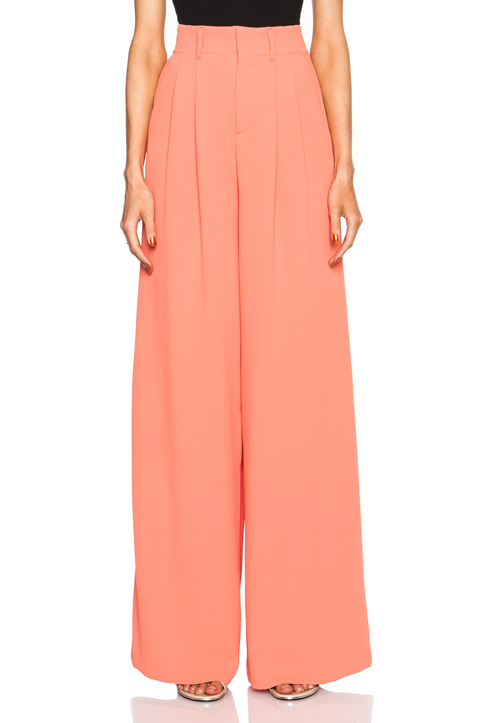 ALICE + OLIVIA - STRAIGHT WIDE LEG TROUSERS