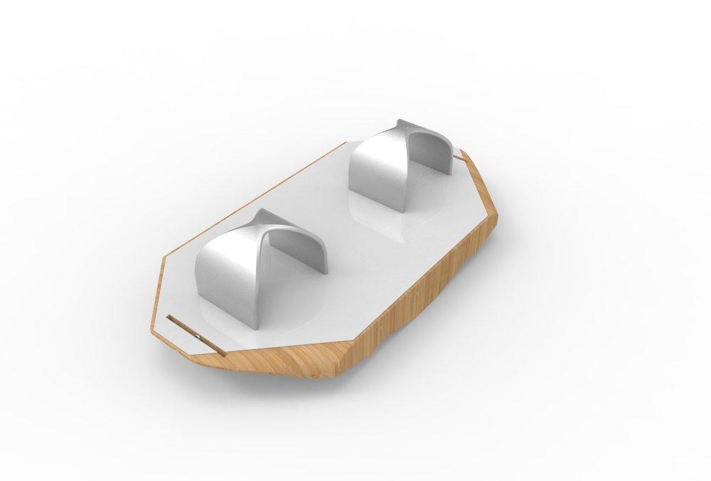 Geometric Stirruped Balance Board Concept