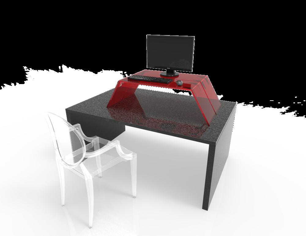 Folding Desktop Riser Concept